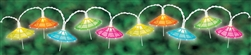 Parasol String Lights | Luau Party Supplies