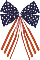 Patriotic Stars & Stripes - Small Bow | Party Supplies