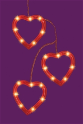 Heart Outline Light Set | Valentines supplies