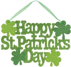 St. Patrick's Day Large Sign with Ribbon Hanger | St. Patrick's Day Decorations