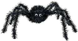 3-D Spider - Black Tinsel Decorations