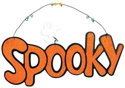 Spooky Large Sign | Halloween Hanging Decorations