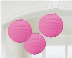 Pink Round Lantern Hanging Decorations | Party decorations