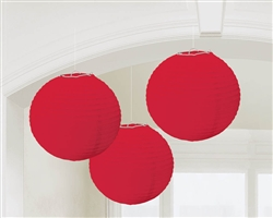Red Round Lantern Hanging Decorations | Party supplies