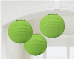 Round Lantern Decorations - Kiwi | Party Supplies