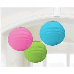 Multi Color Round Lanterns | Party Supplies
