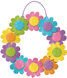 Spring Wreath w/Ribbon Hanger | Party Supplies