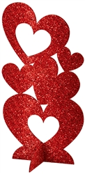 "Hearts 3-D Centerpiece - 11-1/2"" x 6"" 
