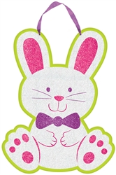 Bunny Sign with Ribbon Hanger | Party Supplies