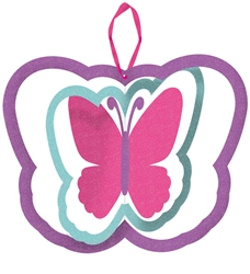 Butterfly Spinning Decoration w/Ribbon Hanger | Party Supplies
