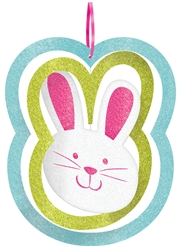 Bunny Spinning Decoration with Ribbon Hanger  | Party Supplies