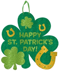 St. Patrick's Day Value Shamrock Sign w/Ribbon Hanger | St. Patrick's Day supplies