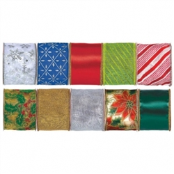 Christmas Wire Ribbon Spools Assortment | Party Supplies