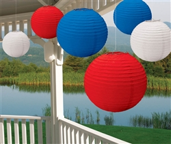 Patriotic Value Pack Paper Lanterns | Party Supplies