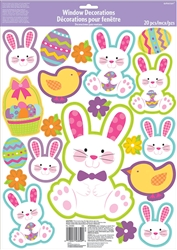 Easter Bunny Window Decorations | Party Supplies