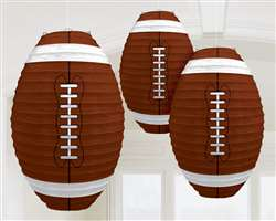 Football-Shaped Paper Lanterns | Sports Decorations