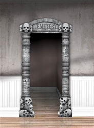 Cemetery Deluxe Doorway Entry | Party Supplies