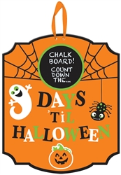Halloween Countdown Chalkboard Medium Sign | Party Supplies