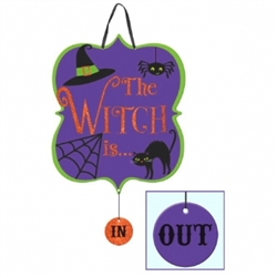 Witch Medium Sign w/Dangler | Party Supplies
