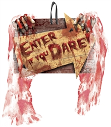 Enter If You Dare Value Sign | Party Supplies