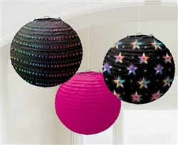Disco Fever Round Printed Paper Lanterns | Party Supplies