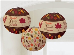 Autumn Words Lanterns | Party Supplies