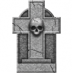 Cross Small Tombstone | Party Supplies