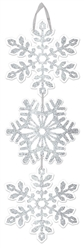 Snowflake Medium Hanging Sign | Party Supplies