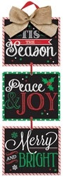 Christmas Sayings Medium Hanging Sign | Party Supplies