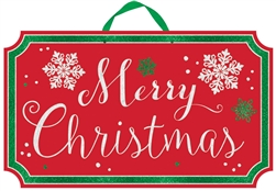 Merry Christmas Large Sign | Party Supplies