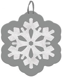 Snowflake Value Sign | Party Supplies
