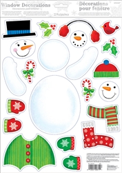 Build a Snowman Window Decoration | Party Supplies