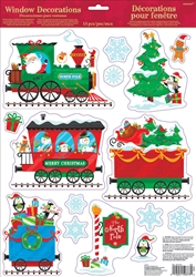 Christmas Train Window Decoration | Party Supplies