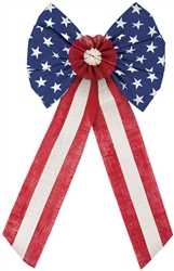Americana Bow Burlap | Party Supplies