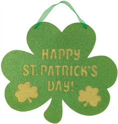 St. Patrick's Day Shaped Sign w/Ribbon Hanger | Party decorations