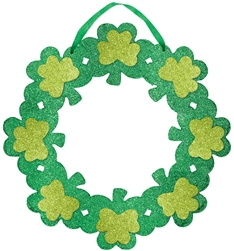 St. Patrick's Day Wreath w/Ribbon Hanger | St. Patrick's Day decorations