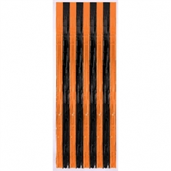 Orange/Black Door Curtain | Halloween Decorations