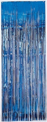 Blue Metallic Curtains | Party Supplies