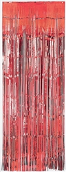 Red Metallic Curtains | Party Supplies