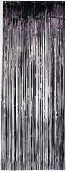 Black Metallic Curtains | Party Supplies