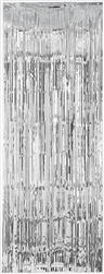 Silver Metallic Curtains | Party Supplies