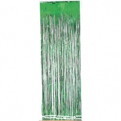 Green Metallic Fringed Table Skirt | Party Supplies