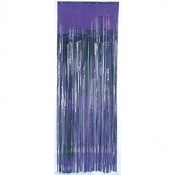 Purple Metallic Fringed Table Skirt | Party Supplies