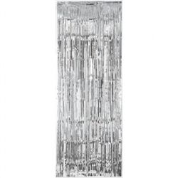 Silver Metallic Fringed Table Skirt | Party Supplies