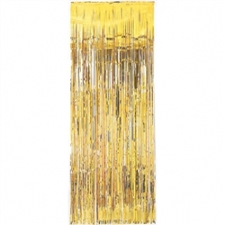 Gold Metallic Fringed Table Skirt | Party Supplies