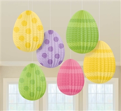 Mini Egg-Shaped Hanging Decorations | Party Supplies