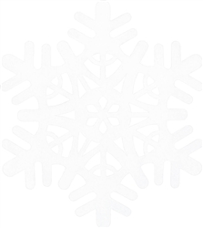 Large Snowflake Cutout - White | Party Supplies