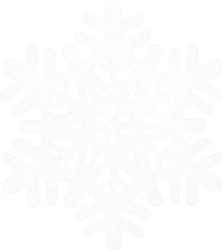 Small Snowflake Cutout - White | Party Supplies