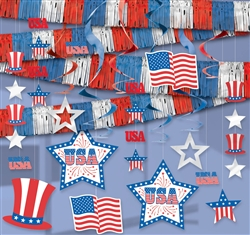Patriotic Giant Room Decorating Kit | Party Supplies