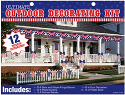Patriotic Ultimate Outdoor Decorating Kit | Party Supplies